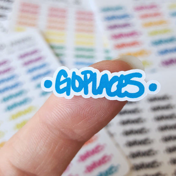 Go Places Hand-Lettered Stickers