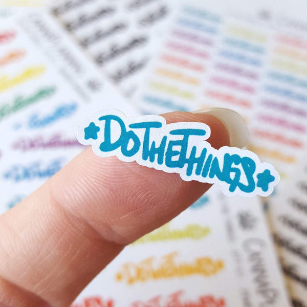 Do The Things Hand-Lettered Stickers - CannaPlanning  - Hand Lettering, Hobonichi, Mini, Non-Weed, Stickers