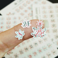 Marijuana December Date stickers, Hand Lettered Christmas Design, Cover stickers, Holiday Weed, 420