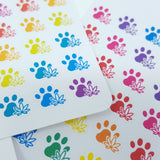 Marijuana Paw Print Stickers
