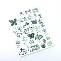 Spring 2019 Marijuana Stickers: Easter & Earth Day Cannabis Sticker Mix