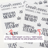 WeedDays Style 2 Hand-Lettered Day of the Week Stickers