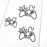Marijuana Game Controller Stickers, Gaming, Xbox, Playstation, PS4 Stickers, Super Nintendo