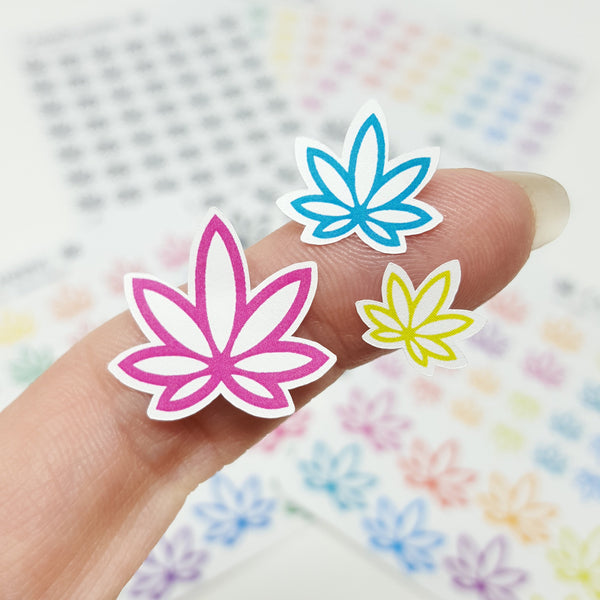 Pot Leaf Stickers, Marijuana Design, 420 Planner, Cannabis Art, Weed Stickers, Erin Condren [new print materials]