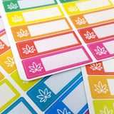 Pot Leaf Appointment Box Stickers, strain trackers