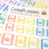 Pot Leaf Planner Stickers, Bujo Notebook, Marijuana Design, Cannabis Stickers, 420 Weed Art, Erin Condren