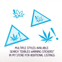 Edibles Warning Stickers Style 4 - CannaPlanning  - Edibles, Edibles Warnings, packaging, Stickers