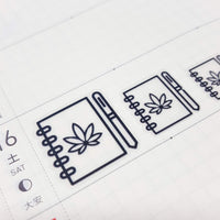 Clear Marijuana Planner Stickers - CannaPlanning  - clear, Clear Stickers, Icons, Stickers