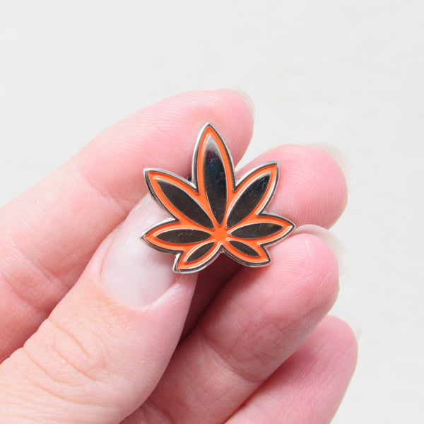 Volcano Orange Marijuana Enamel Pin