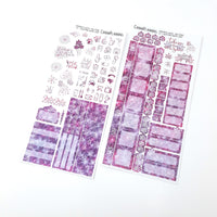 Hempy New Years Hobonichi Weeks Sticker Kit LASER PINK (Previous year ready to ship) | Resolutions stickers, 420 stickers weekly sticker kit