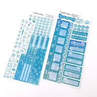 Aquamarine Sparkle Hobonichi Weeks Weekly Marijuana Sticker Kit