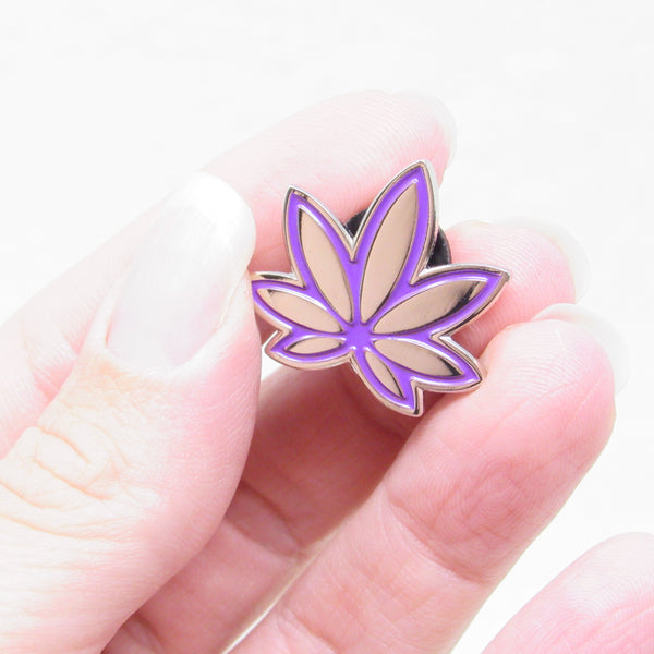 Purple Marijuana Enamel Pin