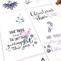 Merryjuana Christmas Deco and Hand-lettered stickers (2019 KIT COLORS)