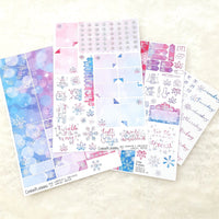 Pink + Blue 'Light Up' Marijuana Winter Sticker Kit