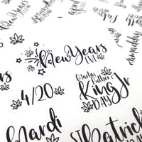 MINI CLEAR Weedy Holiday Marijuana Lettering stickers