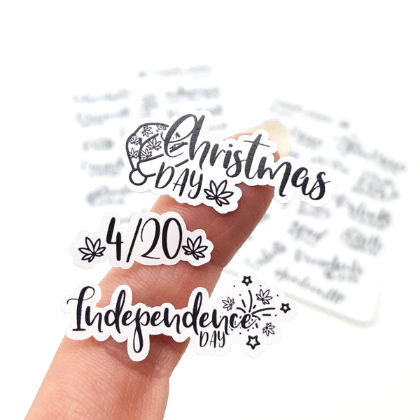 MINI Weedy Holiday Marijuana Lettering stickers