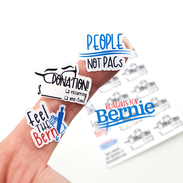 People not PACs - Bonghits for Bernie FUNDRAISER Sticker Sheet