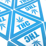 Edibles Warning Stickers Style 8 (THC Triangle Realistic Leaf)