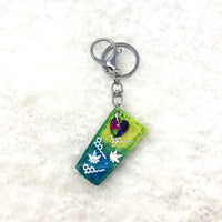 THC and Marijuana tumbler keychain with crystal embellishment (Style RCK-05)
