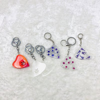 Marijuana ouija planchette resin keychains with Pot Leaf shpaed hole (Style PL-01)