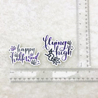 "Halloween Marijuana sticker die cuts (3"" wide, vinyl, weatherproof, dishwasher safe)"