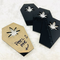 Pot Leaf coffin washi cutter