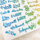 CLEAR FOILED MINI Weedy Holiday stickers | Sparkle Glitter Marijuana 420 cannabis planner stickers monthly holiday seasonal scrapbook