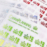 CLEAR FOILED Small CBD Warning Stickers (Style 9) | edibles warning stickers, Marijuana Stickers, Weed Stickers, lip gloss stickers