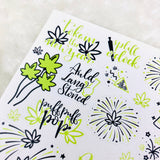 MINI Marijuana New Years Stickers (previous year updates) | Deco stickers, Hand-lettered Stickers, Hempy new year, 2021 resolutions planner