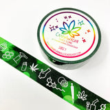 9-piece marijuana washi tape collection | cannabis washi, weed tape, bong washi, edibles washi, hemp washi, 420 washi