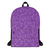 Purple Marijuana Backpack