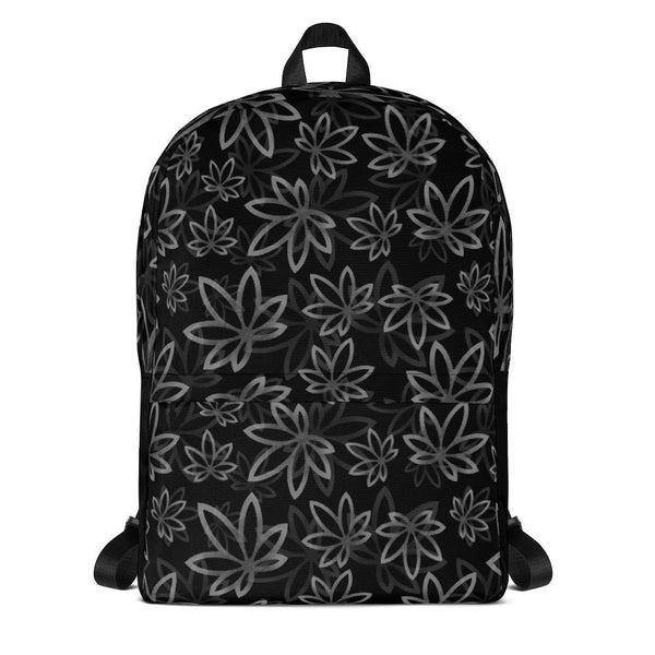 Black Marijuana Backpack