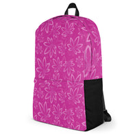Pink Cannabis Backpack