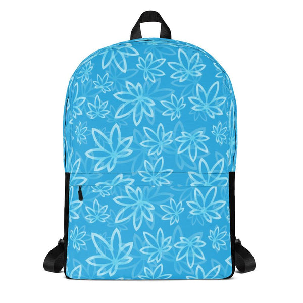 Blue Pot Leaf Backpack
