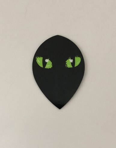 Datadart Metro M029 black cats eyes pear shape dart flights 5 sets