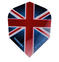Harrows marathon Union Jack standard shape dart flights 5 sets