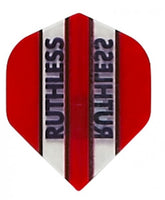 Ruthless red clear panel standard shape dart flights 5 sets