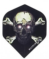 Ruthless skull and crossbones standard shape dart flights 5 sets