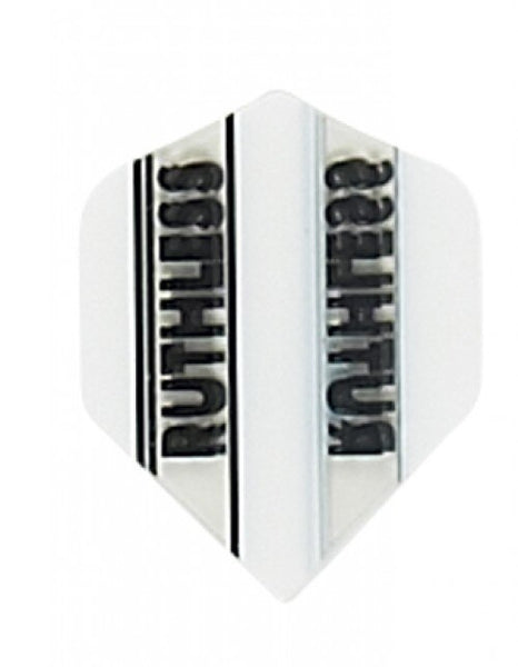 Ruthless x mini white standard shape dart flights 5 sets