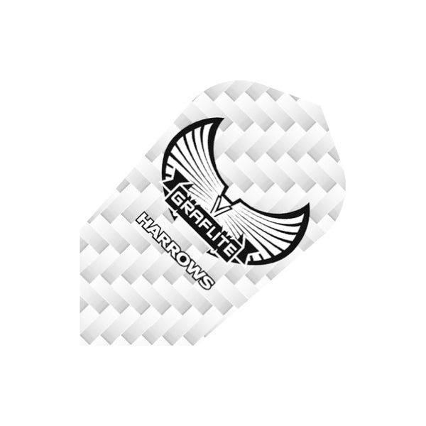 Harrows Graflite silver slim shape dart flights 5 sets