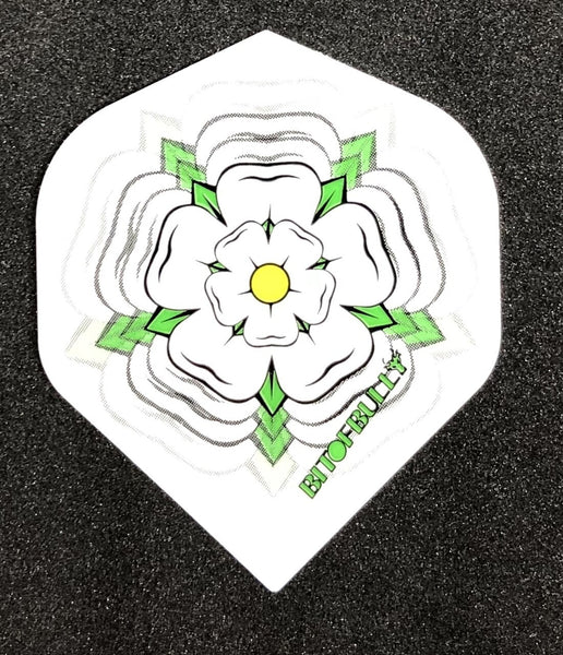 BitofBully Yorkshire Rose white standard shape dart flights 5 sets