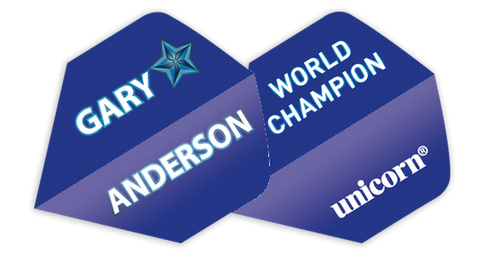 Unicorn player Gary Anderson standard shape dart flights 5 sets