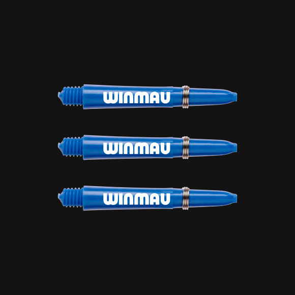 Winmau signature nylon blue short stems/shafts/canes 5 sets