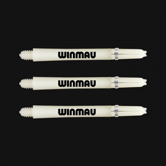 Winmau signature nylon white medium stems/shafts/canes 5 sets