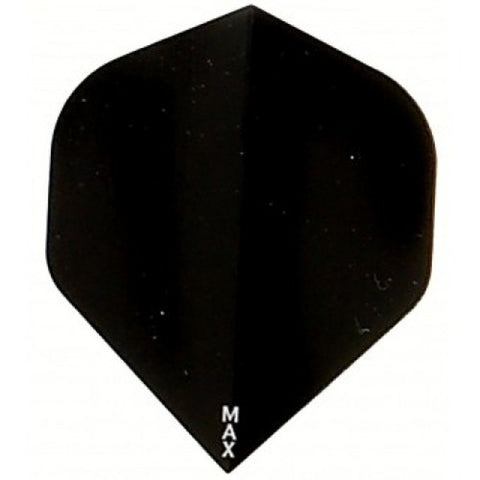Power Max 150 micron black super thick standard shape dart flights 5 sets