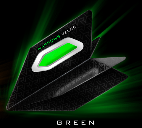 Harrows Velos dart flights green 5 sets