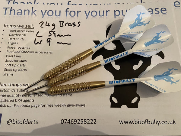 BitofBully 24g binary brass steel tip dart set