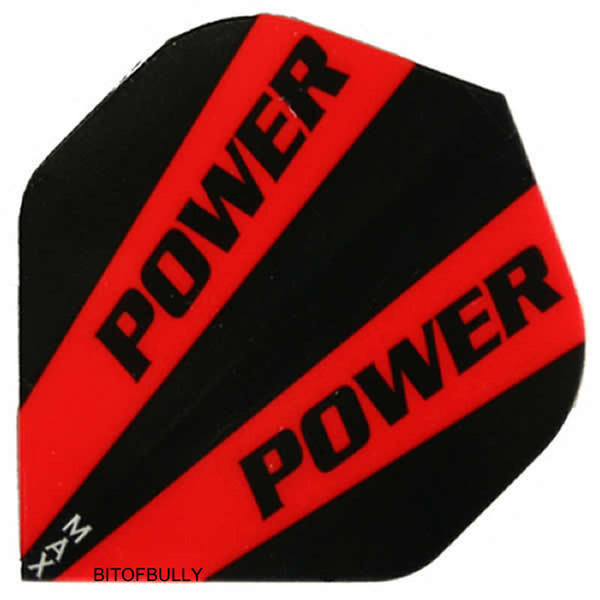 Power Max 150 micron red & black super thick standard shape dart flights 5 sets