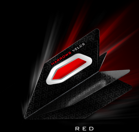 Harrows Velos dart flights red 5 sets