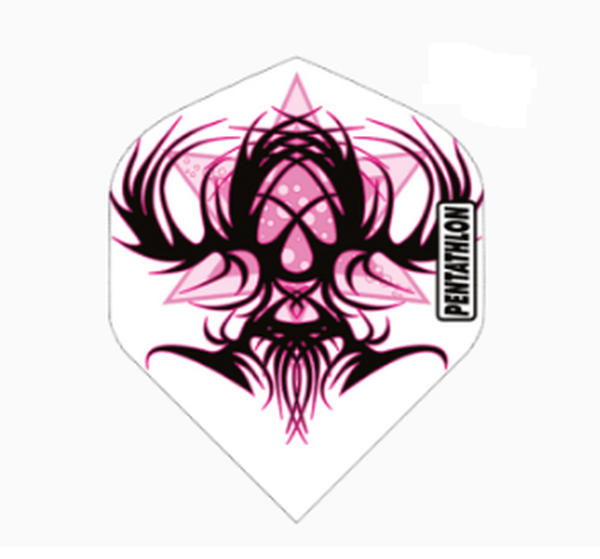 Pentathlon pink tribal standard shape dart flights 5 sets